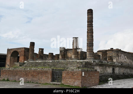 Temple of Jupiter in the Forum in the Ancient CIty of Pompeii, Italy. - Stock Photo