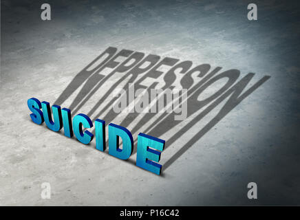 Suicide and depression warning signs of hopelessness as a mental illness health concept as a permanent solution to a temporary state of mind. - Stock Photo