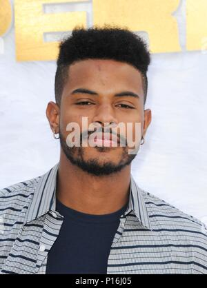 Culver City, USA. 10th June, 2018. Trevor Jackson at arrivals for SUPERFLY Premiere, Sony Pictures Entertainment, Culver City, USA June 10, 2018. Credit: Elizabeth Goodenough/Everett Collection/Alamy Live News - Stock Photo