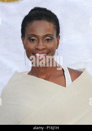 Culver City, USA. 10th June, 2018. Adina Porter at arrivals for SUPERFLY Premiere, Sony Pictures Entertainment, Culver City, USA June 10, 2018. Credit: Elizabeth Goodenough/Everett Collection/Alamy Live News - Stock Photo