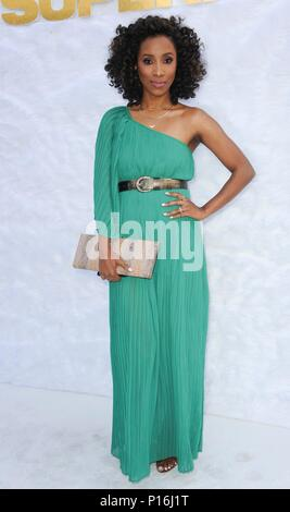 Culver City, USA. 10th June, 2018. Nadia Grier at arrivals for SUPERFLY Premiere, Sony Pictures Entertainment, Culver City, USA June 10, 2018. Credit: Elizabeth Goodenough/Everett Collection/Alamy Live News - Stock Photo