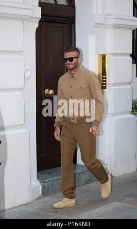 London, UK. 10th June 2018. David Beckham  attending his Kent & Curwen England Fashion Presentation at London Fashion Week  SS19 Credit: Paul Licorish/Alamy Live News - Stock Photo