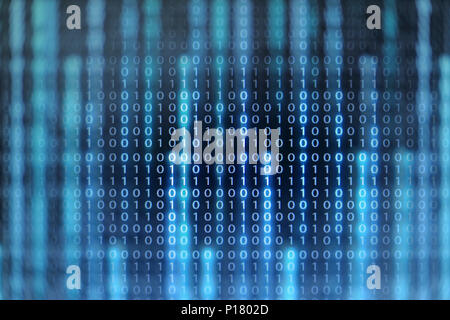 Rise of the AI age. artificial intelligence data transfer. Digital concept, high tech defocused blue and green light background. - Stock Photo