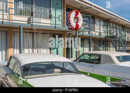 Lorraine Motel in Memphis, Tennessee, where Martin Luther King, Jr. was assassinated on April 4, 1968. (USA) - Stock Photo