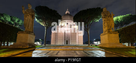 Rome, Italy - March 26, 2018: Saints Peter and Paul stand outside the modern Basilica dei Santi Pietro e Paolo church in the EUR neighbourhood of Rome - Stock Photo