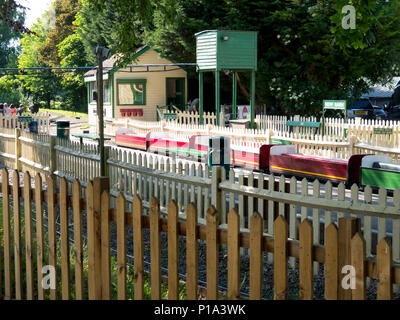 Miniature railway at Swanley Park - Stock Photo