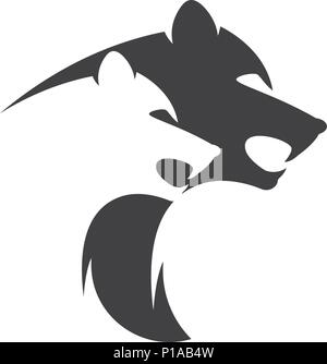 Puma Logo design vector illustration design template - Stock Photo