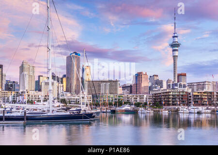 new zealand auckland new zealand north island yachts in viaduct basin inner harbour of Auckland waterfront viaduct harbour auckland north island nz - Stock Photo
