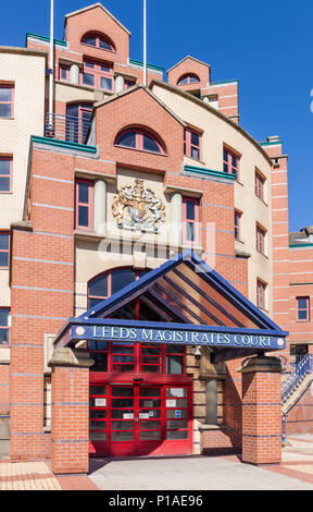 Leeds Magistrates Court Leeds westgate leeds city centre West Yorkshire England UK GB EU Europe - Stock Photo