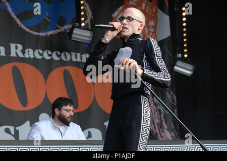 The Correspondents (DJ Chucks and Mr Bruce) perform at the Wychwood Festival, Cheltenham, UK. June 3, 2018 - Stock Photo