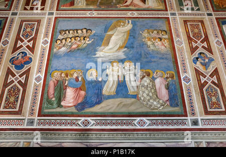giotto frescoes in the scrovegni chapel, padua, italy - Stock Photo