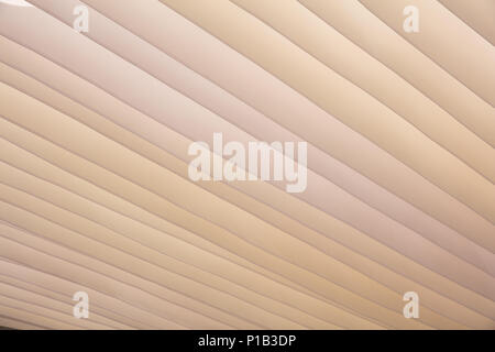 Sand dunes shape and color, texture background.Beige textile roof for sun protection, wavy pattern - Stock Photo