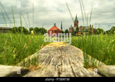 Cityscape from Fort Stanwix - Stock Photo