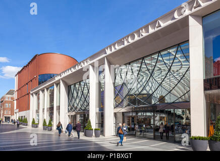 yorkshire england leeds yorkshire victoria leeds shopping centre victoria gate fashion designer shops high-end department store leeds uk england - Stock Photo
