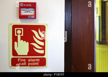 fire alarm and smoke detector equipment. - Stock Photo