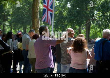 Queens 92nd birthday parade in London - Stock Photo