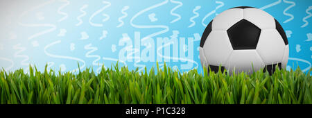 Composite image of black and white football - Stock Photo