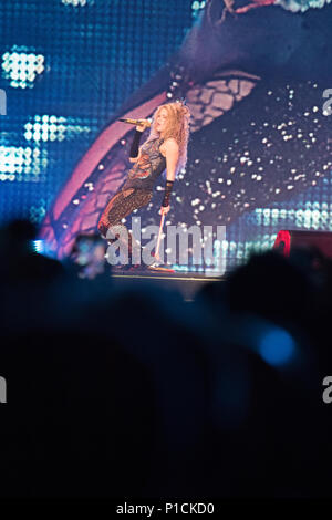 London, United Kingdom. 11 June, 2018.Shakira performs in London, United Kingdom. Credit: Brayan Lopez/Alamy Live News. - Stock Photo