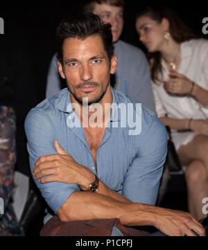 London, UK. 11th June 2018. David Gandy front row the Blindness SS19 catwalk show at London Fashion Week Men's Credit: Paul Licorish/Alamy Live News - Stock Photo