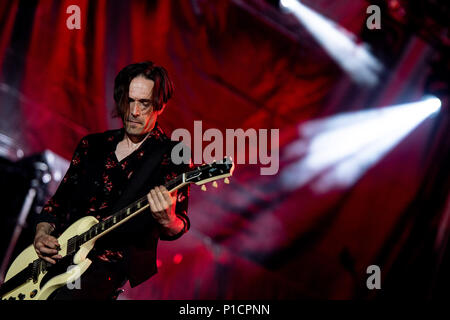 Rome, Italy. 11th June 2018. Vince Pastano performs live during the 'Vasco non stop tour 2018' at Olympic Stadium, Rome, Italy on 11 June 2018. Photo by Giuseppe Maffia Credit: Giuseppe Maffia/Alamy Live News - Stock Photo