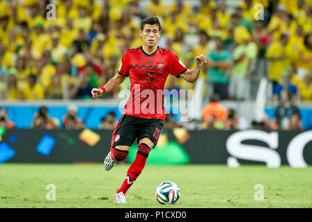 Fortaleza, Brasilien. 17th June, 2014. Preview of the first match of the German national football team at the FIFA World Cup 2018 in Russia: On 17.06.2018, the team of Jogi Loew meets Mexico in Moscow, Hector MORENO (MEX) in action with Ball; Football World Cup 2014 in Brazil from 12.06. - 13.07.2014. | usage worldwide Credit: dpa/Alamy Live News - Stock Photo