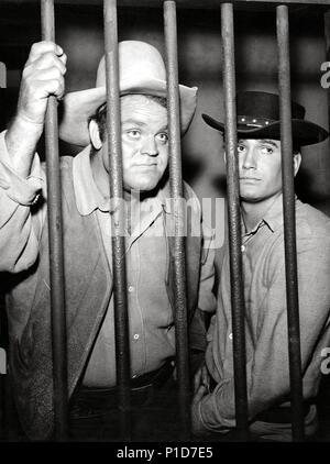 Original Film Title: BONANZA-TV.  English Title: BONANZA.  Film Director: ROBERT ALTMAN; LEWIS ALLEN.  Year: 1959.  Stars: MICHAEL LANDON; DAN BLOCKER. Credit: NATIONAL BROADCASTING CO. / Album - Stock Photo