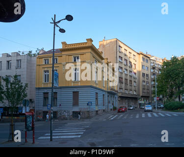 Belgrade, Serbia - May 03, 2018: In the morning on Carice Milice street - Stock Photo