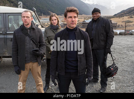 Mission: Impossible – Fallout is an upcoming American action spy film written, directed and co-produced by Christopher McQuarrie. It is the sixth installment in the Mission: Impossible film series and stars Tom Cruise, Rebecca Ferguson, Ving Rhames, Simon Pegg, Michelle Monaghan, Alec Baldwin and Sean Harris.  This photograph is for editorial use only and is the copyright of the film company and/or the photographer assigned by the film or production company and can only be reproduced by publications in conjunction with the promotion of the above Film. A Mandatory Credit to the film company is - Stock Photo