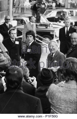 Edward Heath, British Prime minister arrives at the EEC Summit Conference in Paris, 1972. Location: Louvre, Departement des Peintures, Paris, France. - Stock Photo