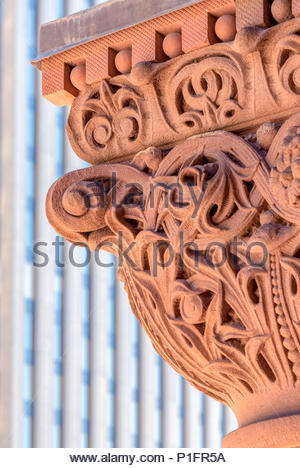 Old City Hall Romanesque Revival Architecture. The landmark is part of the city heritage and a major tourist landmark - Stock Photo