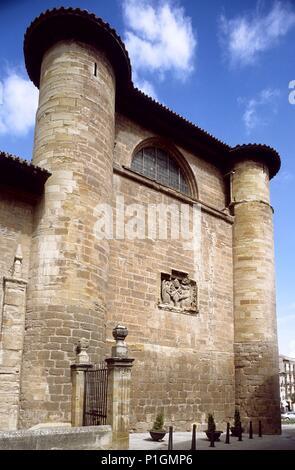 Nájera; Iglesia gótica de Santa María La Real (Camino de Santiago). - Stock Photo