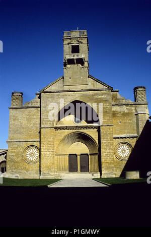 Monasterio de la Oliva, portada. - Stock Photo