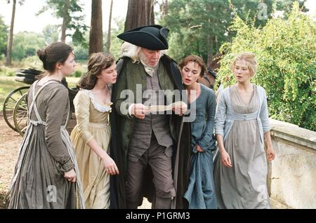 Original Film Title: PRIDE & PREJUDICE.  English Title: PRIDE & PREJUDICE.  Film Director: JOE WRIGHT.  Year: 2005.  Stars: DONALD SUTHERLAND; KEIRA KNIGHTLEY; ROSAMUND PIKE; CAREY MULLIGAN; TALULAH RILEY. Credit: UNIVERSAL PICTURES / BAILEY, ALEX / Album - Stock Photo