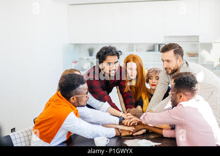 strong friendly startup team - Stock Photo