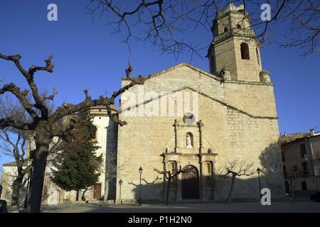 SPAIN - Catalonia - Ribera d?Ebre (district) - TARRAGONA. Tivissa; Iglesia / Esglesia de Sant Jaume. - Stock Photo