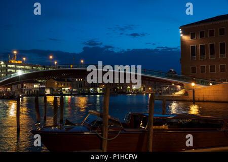 Ponte della Costituzione in Venice, Italy. - Stock Photo