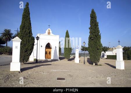 SPAIN - Catalonia - Ribera d?Ebre (district) - TARRAGONA. Mora d' Ebre; Ermita del Calvari(o). - Stock Photo