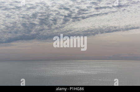 an unusual beautiful quality to afternoon light over the pacific ocean at Point Reyes, California - Stock Photo