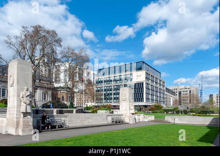 The Tower Hill Memorial, a pair of Commonwealth War Graves Commission memorials in Trinity Square, on Tower Hill in London, England - Stock Photo