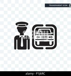 Chauffeur vector icon isolated on transparent background, Chauffeur logo concept - Stock Photo