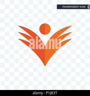 ganpati vector icon isolated on transparent background, ganpati logo concept - Stock Photo