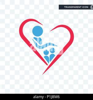 orphanage vector icon isolated on transparent background, orphanage logo concept - Stock Photo