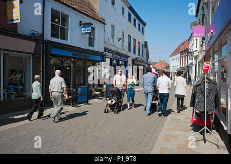 Town centre in spring Beverley East Yorkshire England UK United Kingdom GB Great Britain - Stock Photo