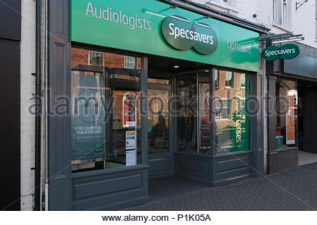 Store front of Specsavers in Christchurch, Dorset, England, UK - Stock Photo