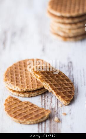 Food Image of dutch waffles with caramel - Stock Photo