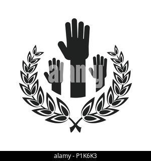 unity handpalm heart logo - Stock Photo