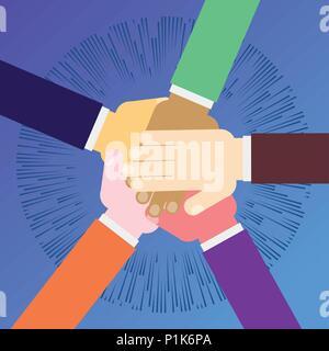 unity teamwork concept - Stock Photo