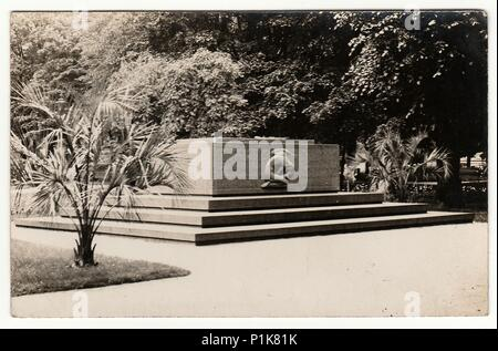 GERMANY - CIRCA 1940s: Vintage photo shows unknown monument. Black & white photography. - Stock Photo