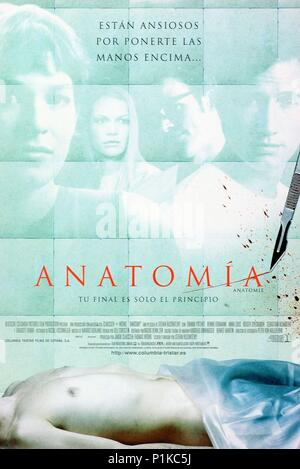 ANATOMY - 2000 Columbia film - original title Anatomie Stock Photo ...