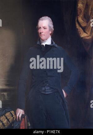 Portrait of William Pitt the Younger (1759-1806), British politician and Prime Minister, 1805. One of twenty recorded versions of this portrait. - Stock Photo